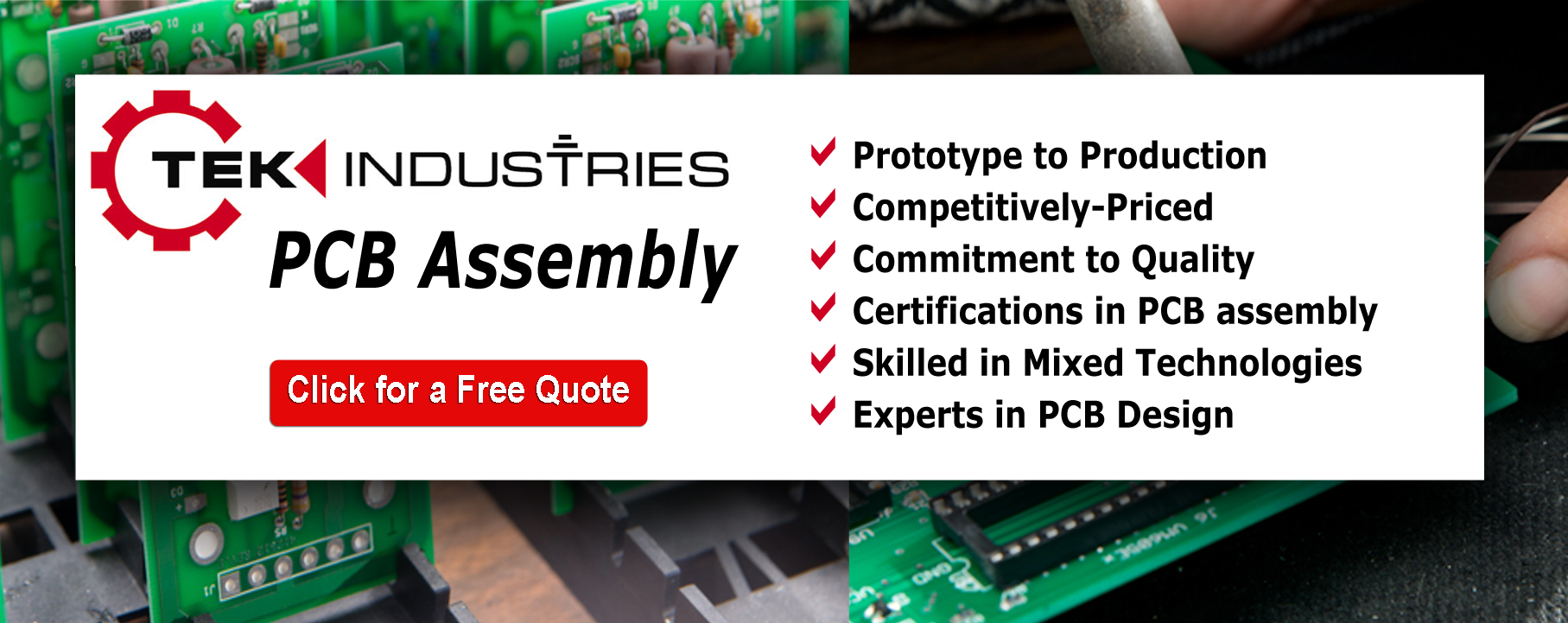 Printed Circuit Board Assembly Tek Industries Engineering And